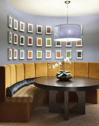 gold framed wall art dining room contemporary with dining bench
