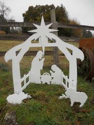 Outdoor Lit Nativity Scene by Lighted Outdoor Nativity Scene Wall With Wood Furniture Ocinz Com