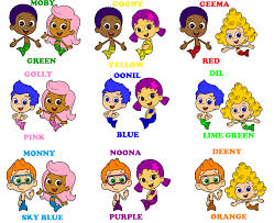 bubble guppies color coded couples by blueelephant7 on deviantart