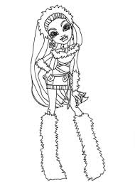 free printable monster high coloring pages abbey bominable