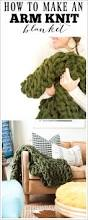 yards to meters arm knit blanket how to make using chunky yarn