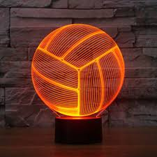 3d Lamps Amazon Volleyball 3d Lamp Optical Illusion Night Light Gawell 7 Color