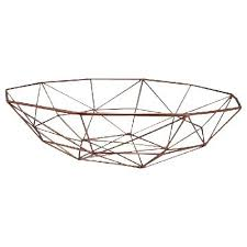 modern fruit basket copper metal geo bowl 40cm modern fruit bowl geometric
