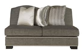 furniture natural white armless loveseat interesting armless