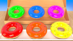 Best Color With Orange Learning Colors With Donut Packing In A Wooden Box For Kids Best