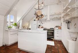 attic kitchen in apartmen with shabby chic design ideas shabby
