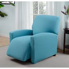 turquoise chair slipcover stretch jersey scroll recliner slipcover jersey scroll aqua
