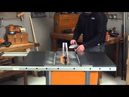 ridgid 13 10 in professional table saw ridgid how to video for table saws youtube