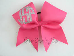 bow monogram monogram cheer bow