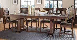 trestle dining table set hayden trestle dining tabe
