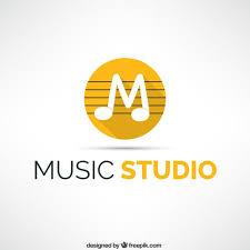 imagenes logos musicales logo de estudio de música descargar vectores gratis
