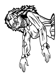 scary zombie coloring pages coloring