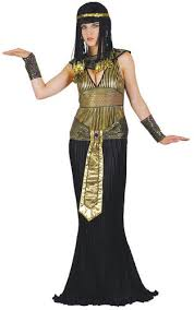 egyptian queen cleopatra wig ladies fancy dress egypt womens