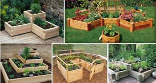 unique and cool raised garden bed ideas