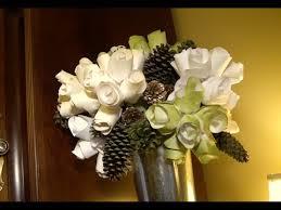 diy paper flower arrangement youtube