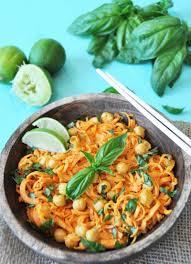 sweet potato noodle salad with sriracha lime peanut sauce veganosity