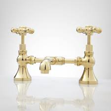 Gold Bathroom Fixtures by Bridge Bathroom Faucets Bridge Sink Faucets Signature Hardware