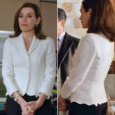 goodwife hair styles the good wife alicia florrick s white jacket instyle com