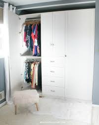 custom closet armoire installation u2013 before and after beauteeful