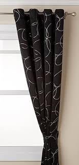 Black And White Thermal Curtains Best Home Fashion Flower Foil Printed Thermal