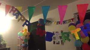birthday decoration idea at home diya shaloukh youtube