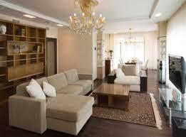 natural varnished oak wood shelves grey velvet sofa chair crystal