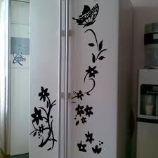 Cabinet Door Decals by Aliexpress Com Buy Diy Butterfly And Flowers Wall Stickers