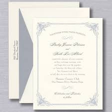 wedding invitations blue truly blue vintage frame warm white wedding invitation