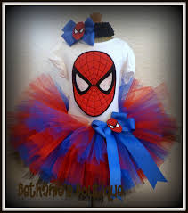 Spiderman Toddler Halloween Costume Brooklyn Spidergirl Spiderman Tutu Red Blue