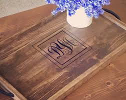 monogrammed serving tray monogrammed tray etsy