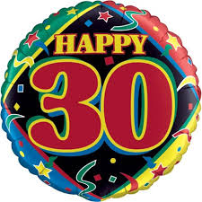 30th birthday flowers and balloons 30th birthday balloon absolute flowers florist youghal