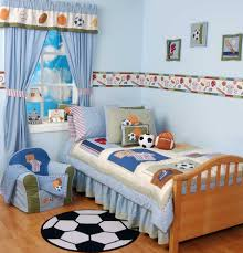 best football themed bedroom ideas for boys with brown smooth
