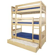 three bunk beds maxtrix holy triple bunk bed in natural with slat bed ends 850