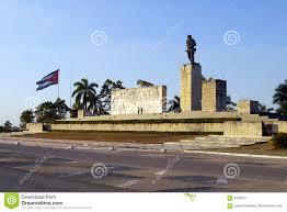 Che Guevara Flag Denkmal Zu Comandante Che Guevara Kuba Redaktionelles