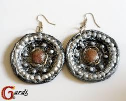 paper mache earrings paper mache my handmade world