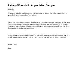 appreciation letter to a friend letter of friendship appreciation