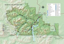 Wildfire Map Of Canada by Map Of Waterton Lakes National Park Waterton Lakes National Park