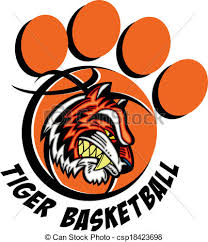 tiger basketball paw print eps vectors search clip