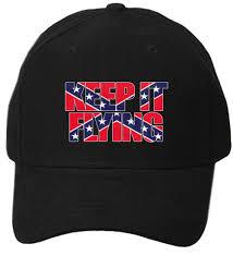 Flying Flag Keep It Flying Flag Inside Words Rebel Confederate Flag Hat