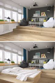 Efficiency Apartment Decorating Ideas Photos by A Clever Design Solution For A Bed In A Small Apartment Small