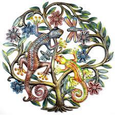 Tree Of Life Home Decor 24 Inch Painted Gecko Tree Of Life Handmade And Fair Trade U2013 Art