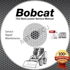 bobcat 753 g series loader service manual cd repair shop serial