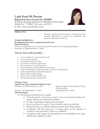 Cover Letter For Work Experience Application Letter Format For Volunteer Nurse Order Custom