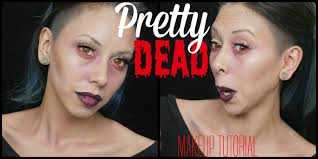 halloween makeup tutorial easy a pretty dead makeup tutorial easy halloween makeup krystal