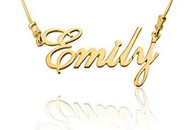 personalized name necklace any personalized name necklace 24k gold plated