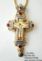 pectoral crosses silver pectoral cross 205 oramaworld