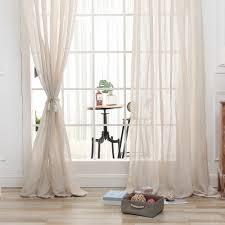 Wohnzimmer Fenster Dsinterior Natürlichen Stil Polyester Leinen Tüll Schiere Vorhang