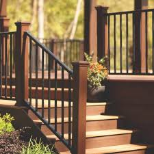 Banister Railing Ideas Kitchen Incredible Best 25 Wood Deck Railing Ideas On Pinterest