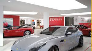 ferrari dealership showroom automotive