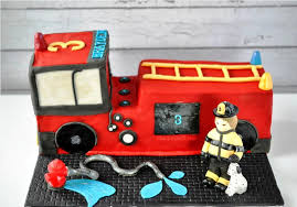 fire truck birthday cakes u2014 bertha fashion monster truck